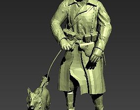 figurines German Soldier with dog 3d print model