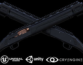 3D model VR / AR ready Semi-automatic shotgun