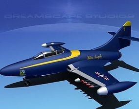 Grumman F9F-5 Panther Blue Angels 3D model