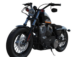 3D Harley-Davidson Forty Eight Motorcycle