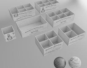 3D 7 white decor boxes shabby chic