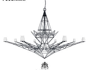 Chandelier Lightweight Foscarini 3D model