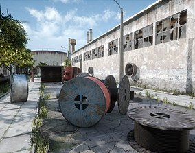 3D asset VR / AR ready Abandoned Factory District