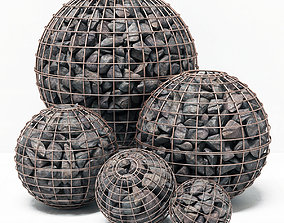 Gabion sphere form 3D model