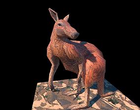 3D Stylised Kangaroo low-poly