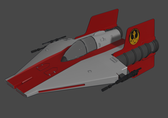 A-Wing - Toon Shader