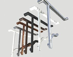 Gutter System Material PACK PBR 3D model