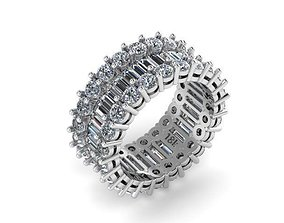 3D printable model Baguette round eternity band