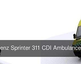 3D Mercedes Benz Sprinter 311 CDI Ambulance