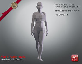 Woman A Testing model - Marvelous Designer Stand2 low-poly