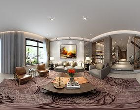 Living ic Modern Style Family Living Room Restaurant 05 3D