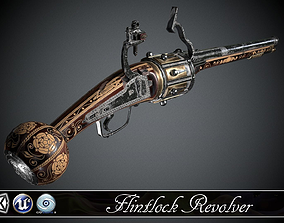 Flintlock Revolver - model and 3D asset