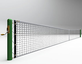 arena 3D Tennis court net high detail