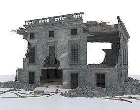 DAMAGED BUILDING WAR POST APOCALYPSE 3D model
