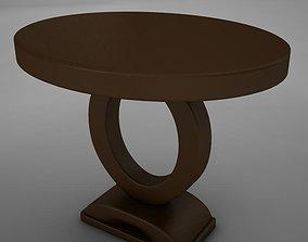 3D asset Wood Dining Room Buffet Table
