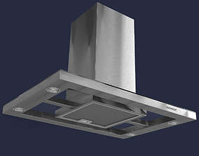 Brushed Stainless Steel Cooker Hood 3D model