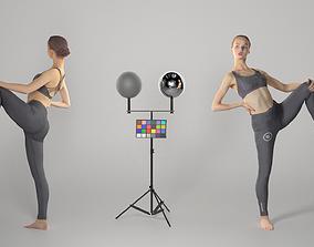 Female sport practising gymnastics 135 3D asset