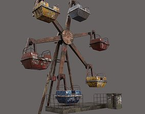 Abandoned Ferris Wheel 3D model