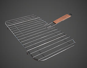 3D asset Grill Basket Barbecue Grill Rack
