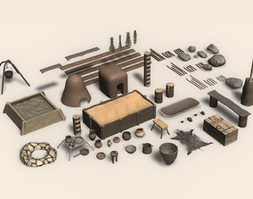 VR / AR ready Medieval home assets pack - household items