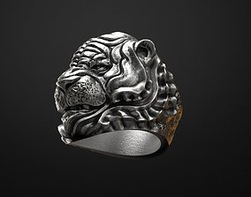 Tiger ring Animal STL 3d model for 3d printing