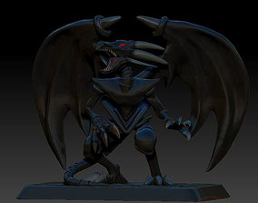 YU GI OH Red Eyes Black Dragon 3D Print Miniature Figure