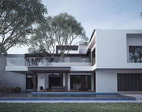 Modern House 3D model house vila
