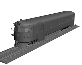 ER9PC-321 electric train 3D print model