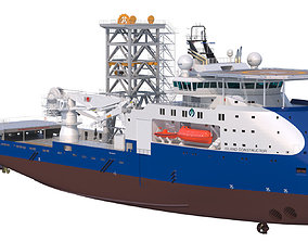 3D Construction and Well Intervention Vessel Island 1