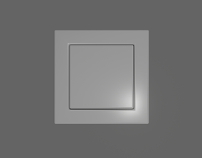 3D asset rigged game-ready Light Switch
