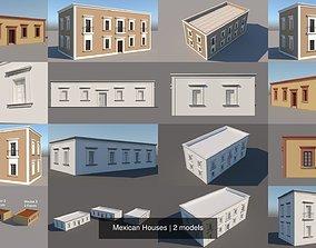 Mexican Houses 3D model village