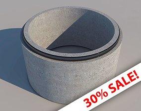 Concrete Drainage Pipe 3D asset