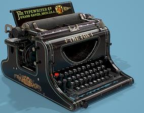 Typewriter Fox Low poly 3D model realtime