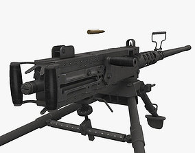 M2 Browning 3D model realtime