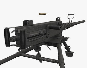 3D model low-poly M2 Browning