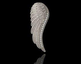 Angel Wing Pendant with Diamonds 3dm stl 3D print model
