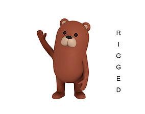 3D model Rigged Bear Character