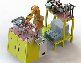PCB board bracket automatic assembly machine 3D model