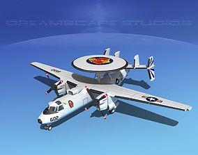 Grumman E-2C Hawkeye V20 3D