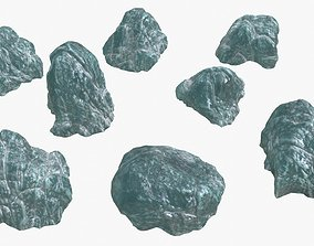 3D model Ice Rocks 02