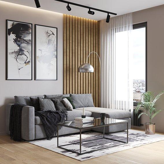 Visualization of modern interior