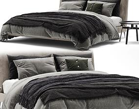 3D Maxalto Demetra Bed leather