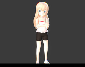3D model rigged Misha