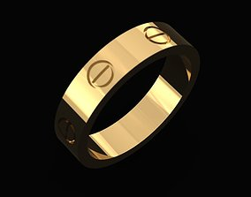 3D printable model Cartier Style Ring