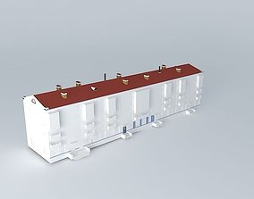 3D Residential building with a polyclinic