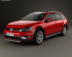 3D Volkswagen Golf Alltrack 2015