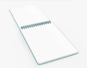 Sketchbook with spiral 05 3D