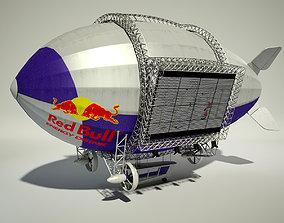 Advertising Zeppelin RedBull 3D model