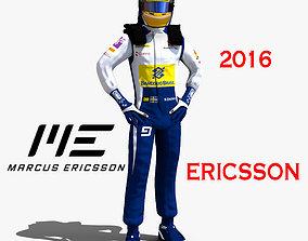 3D model Marcus Ericsson 2016
