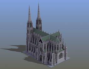 3D model Saint Patricks Cathedral NY